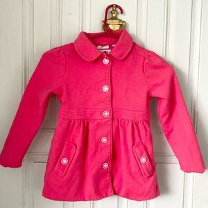 Gymboree Pink Button Down Jacket Small (5-6)